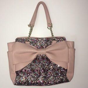 Betsey Johnson Rare Sequins with Bow Handbag